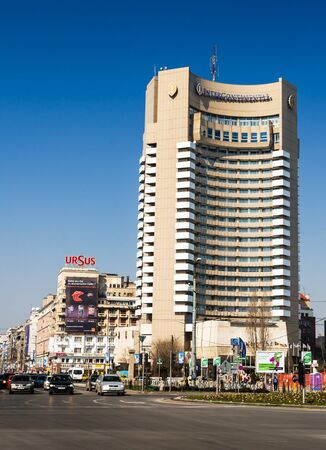 intercontinental: Intercontinental, five star hotel situated near University Square, Bucharest  Romania