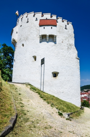 White Tower bastion was erected  in semicircular shape in medieval times to protect the Fortress of Brasov. Transylvania, Romania. photo