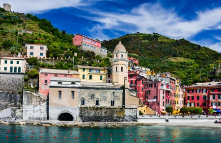 Vernazza small fishing village on Cinque Terre  This is a picturesque attraction sight of Italy