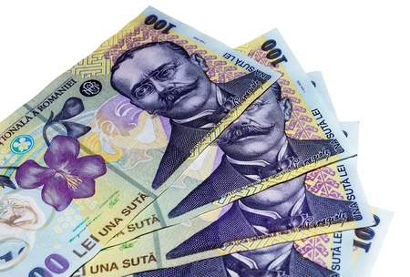 Pack of romanian  banknotes, european currency