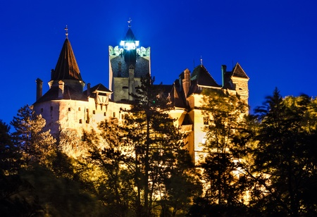 beetwen: Medieval Bran castle in Romania, Brasov, known for Dracula story, one of landmarks of Romania  XIVth century   The castle was built on the border beetwen medieval Walachia and Transylvania