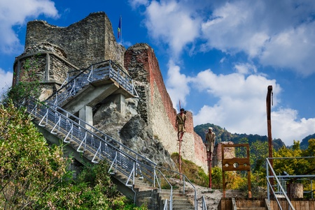 Poenari Fortress is Vlad Tepes castle, prince of medieval Wallachia, modern Romania Redakční