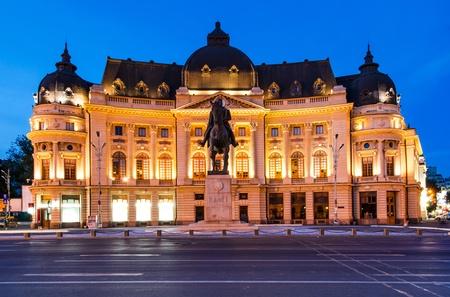 University Library, Bucharest 写真素材