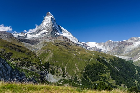 helvetia: Matterhorn  Monte Cervino  is one of the highest summits from Europe  Zermatt, Switzerland
