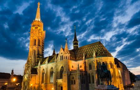 magyar: Matthias  Matyas in magyar  or Parish Church of Our Lady Mary was built in 13th century, now in Neo-Gothic style in Budapest, Hungary