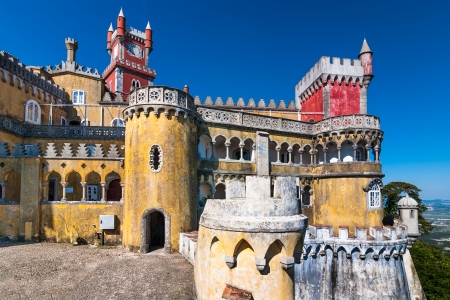 Pena Palace is the oldest palace inspired by European Romanticism. It is located in Sintra, Portugal.