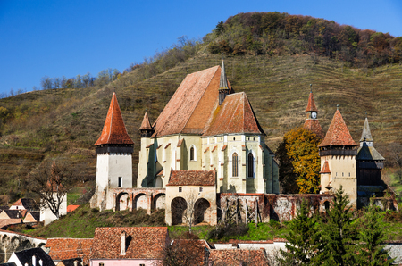 biertan: Biertan is one of the most important Saxon villages with fortified churches in Transylvania. Romania. Stock Photo