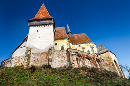 biertan: Biertan is fortified church with three protecting walls, one of most important Saxon villagesin Transylvania. Romania.