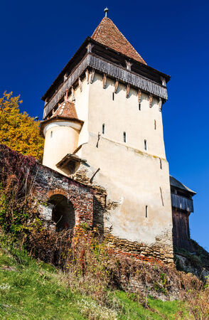 Biertan, Romania. One of saxon settlements in Transylvania, with fortified church, medieval landmark, built in 15th-16th centuries. photo