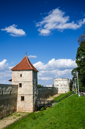 mention: Transylvania, Romania. Defense wall of Brasov fortified medieval city, built by saxons, first mention date 1234AD.
