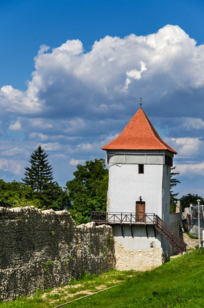 mention: Transylvania, Romania. Defense wall and tower of Brasov fortified medieval city, built by saxons, first mention date 1234AD.