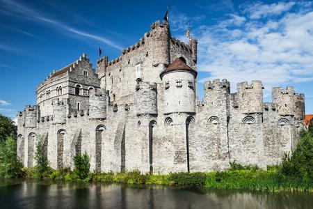 medioevo: Gravensteen � un castello a Gent, Gand costruita nel 1180 Medioevo, acquistato nel 1885 per citt�