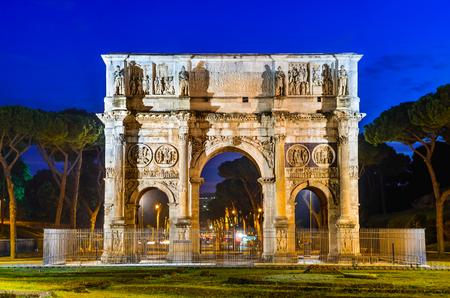 constantine: Rome, Italy. Arch of Constantine, commemorate emperor victory over Maxentius in 312AD, Roman Empire civil war
