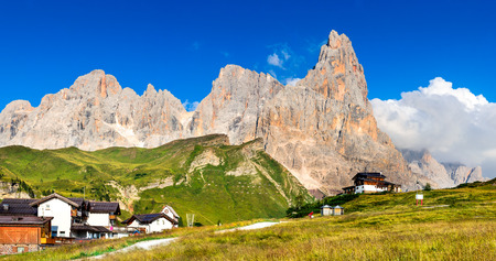 martino: Dolomites Alps. Landscape of Pale di San Martino Trentino  Dolomites Italy with Cimon della Pala mountain ridge. Stock Photo
