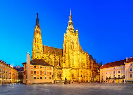 Prague Czech Republic Saint Vitus Cathedral In Prague Castle