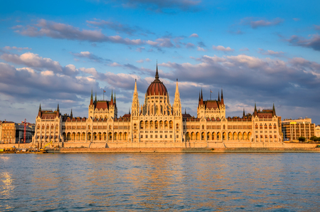 legislative: Hungarian Parliament building, Orszaghaz, is the seat of the National Assembly of Hungary, one of Europes oldest legislative buildings, a notable landmark of Budapest. Stock Photo