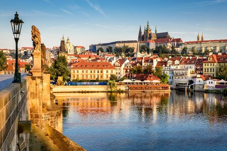 praha: Prague, Bohemia, Czech Republic. Hradcany is the Praha Castle with hurches, chapels, halls and towers from every period of its history.