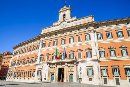 Palazzo Montecitorio is a building in Rome, where the seat of the Chamber of Deputies of the Italian Republic.