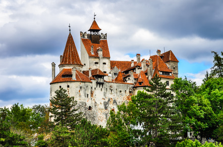 Bran Castle, Brasov, Romania. Medieval fortress at the border between Wallachia and Transylvania. It is also known for the myth of Dracula. 新聞圖片