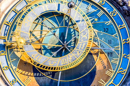 stare mesto: Prague, Czech Republic. Astronomical Clock (Prague Orloj), on the southern wall of Old Town City Hall in Stare Mesto.