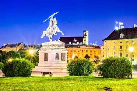 Vienna, Austria. Statue of Archduke Karl-Ludwig-John on Heldenplatz, Wien. Editorial