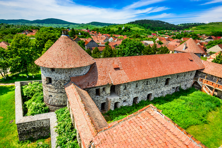 Transylvania, Romania. Bethlen Castle, built in 17th century in Racos, Brasov county, by local hungarian nobles.