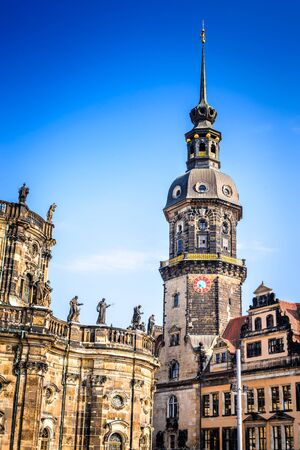 Dresden, Germany. Dresda Castle (Green Vault) in the historic center of the Saxony city. Contains the largest collection of treasures in Europe. Editorial
