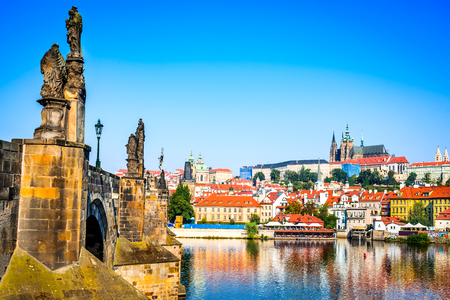 praha: Prague, Bohemia, Czech Republic. Hradcany is the Praha Castle with churches, chapels, halls and towers from every period of its history.