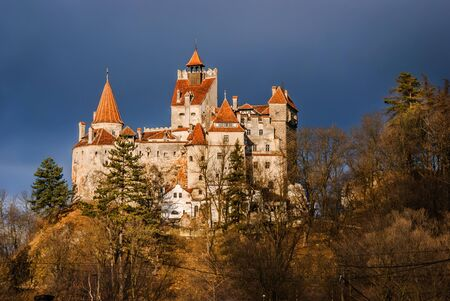 Bran Castle, Transylvania. Guarded in the past the border between Wallachia and Transylvania. It is also known for the myth of Dracula. Romania.