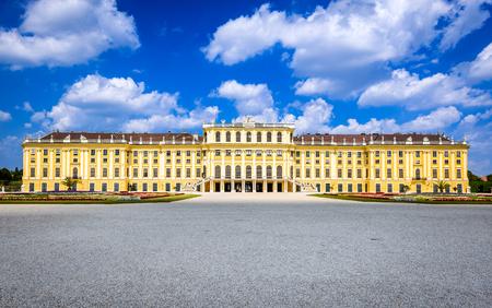 schoenbrunn: Austria. Schonbrunn Palace in Vienna. Its a former imperial 1,441-room Rococo summer residence in modern Wien