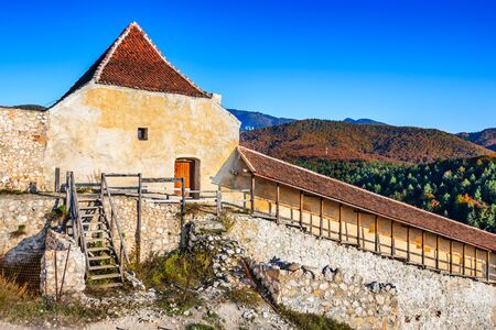 impenetrable: Rasnov Fortress, Romania. Ruins of saxon citadel in Transylvania, dating from the 13th century.