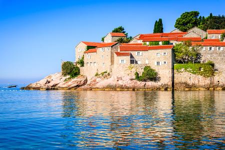 Sveti Stefan, Montenegro. View with fantastic small island and resort on the Adriatic Sea coast, Budva city region. Reklamní fotografie