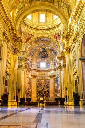 ROME, ITALY - 26 September 2014: Church SantAndrea della Valle, Piazza Vidoni, built in Baroque style, 1608 AD. Rome, Italy.