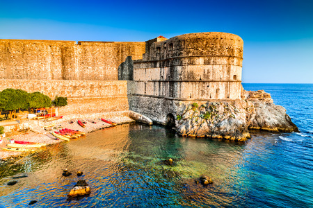 ragusa: Dubrovnik, Croatia. Spectacular picturesque view on the old town of Ragusa and Adriatic Sea coastline.