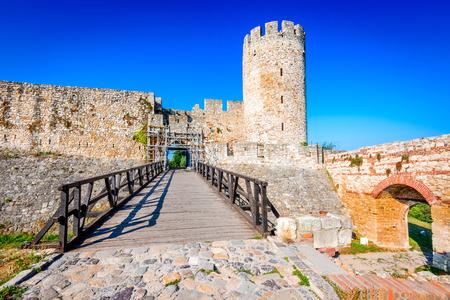 Belgrade, Serbia. Kalemegdan Fortress entrance, ancient Singidunum.