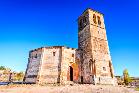 Segovia, Spain. 12-sided church of Vera Cruz built by Knights Templar in 13th century. Stock Photo