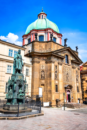 Prague, Czech Republic. St. Francis of Assisi Church built in Baroque style between 1679 – 1685