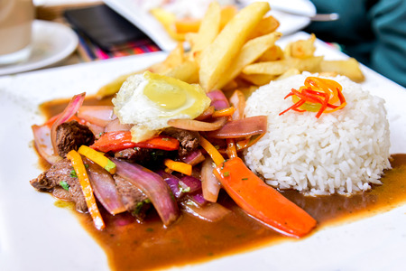 Peru, South America - Saltado, popular  stir fry peruvian food.