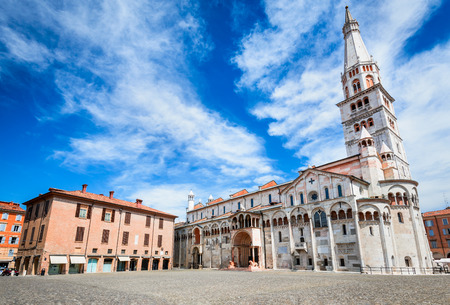 Modena, Italy - Piazza Grande and Modena Cathedral, Roman Catholic church