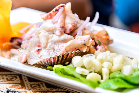 other keywords: Peru, South America - Ceviche is of Peruvian dish origin and consumed in Latin America.