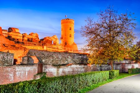 Targoviste, Romania - Chindia Tower, former Wallachia kingdom capital city, Dracula city. Stock Photo