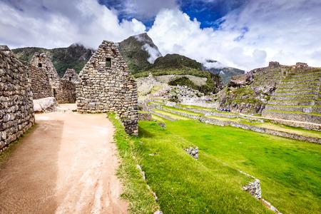 Machu Picchu, Cusco, Peru - Ruins of Inca Empire city and Machupicchu Mountain, Sacred Valley. Amazing world wonder in South America.