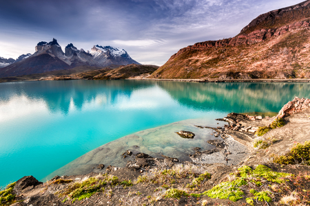 Patagonia, Chile - Torres del Paine, Laho Pehoe in the Southern Patagonian Ice Field, Magellanes Region of South America