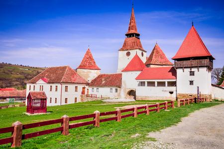 Archita, Romania - Medieval fortified church in Transylvania, saxon travel sight.