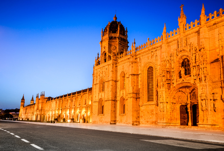 Lisbon, Portugal. Mosteiro dos Jeronimos,  Jeronimos (Hieronymites) Monastery, Belem district.