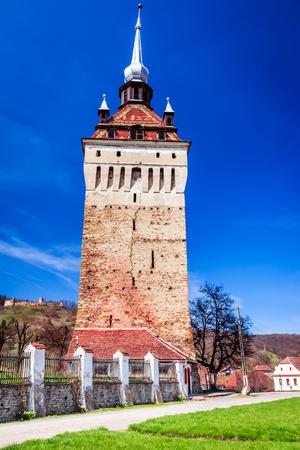 Saschiz, Romania - Medieval fortified church in Transylvania, saxon travel sight. Reklamní fotografie