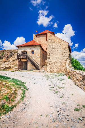 Rupea, Romania. Ruins of  the medieval citadel in Transylvania famous attraction of Brasov county. Reklamní fotografie
