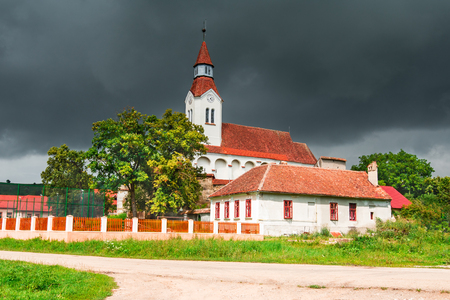 Bunesti, Romania. One of the medievals fortified saxon churches from Transylvania heritage destination of Europe.