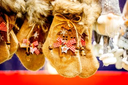 Strasbourg, France - December 2017: Marche de Noel decorations in Strasbourg, Christmas Market in Alsace. Editorial