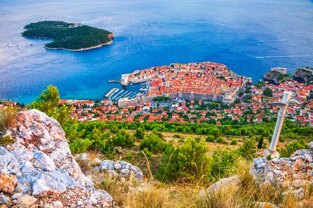 Dubrovnik, Croatia. Spectacular twilight picturesque view on the old town, medieval Ragusa on Dalmatian Coast. Reklamní fotografie